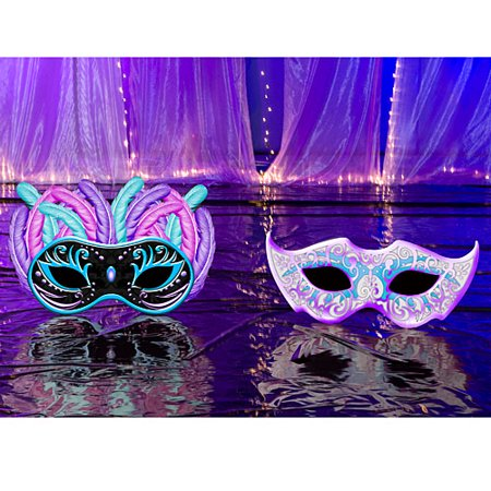 2 ft. 7 in. Small Masquerade Ball Standees](Mascarade Decorations)