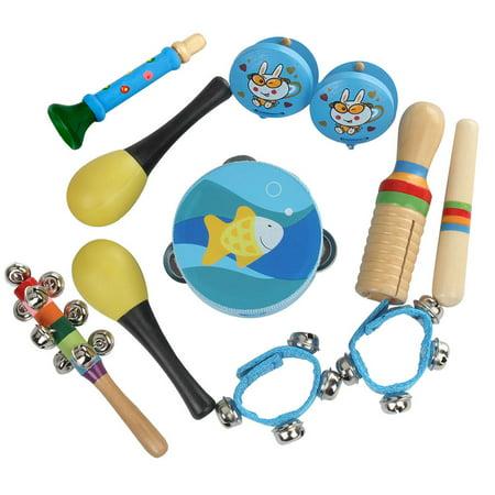 Ejoyous 10pcs Kids Children Educational Musical Percussion