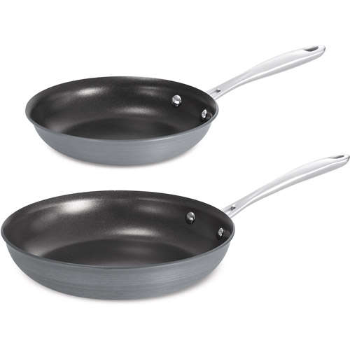 "Tramontina 8"" and 10"" Gourmet Hard Anodized Nonstick Saute Pans, 2 Pk."