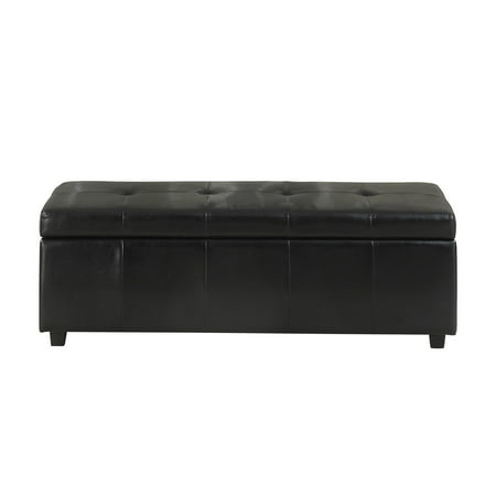 Simpli Home Castleford Large Storage Ottoman Bench ()