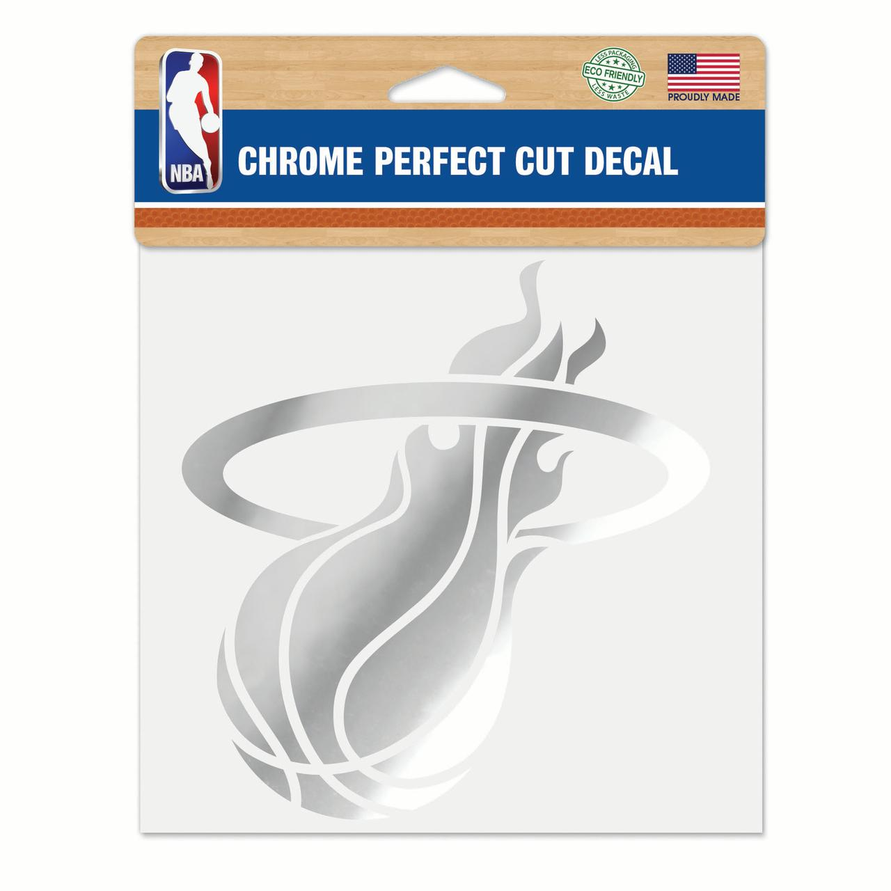 "Miami Heat WinCraft 6"" x 6"" Chrome Decal - No Size"