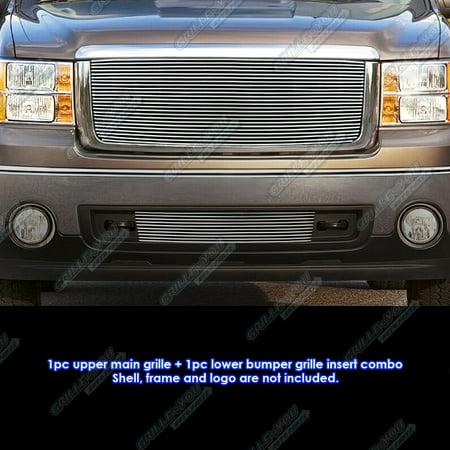 Fits 2007-2013 GMC Sierra 1500 New Body/07-10 Denali Billet Grille Grill Combo # (Gmc Sierra 1500 New Body)