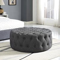 Modway Amour Round Upholstered Ottoman, Multiple Colors