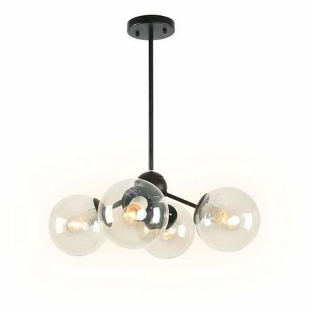 Wrought Studio Foret Art Deco Dining Room 4 Light Sputnik Chandelier