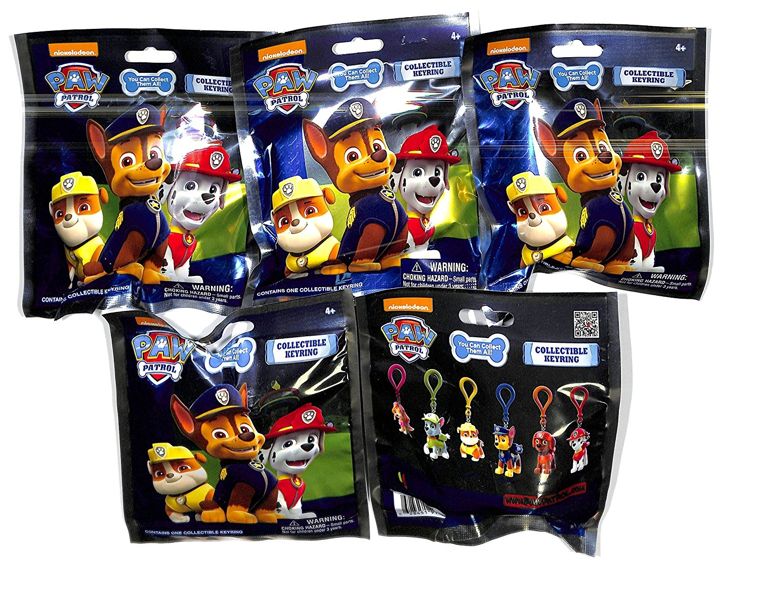 Nickelodeon Paw Patrol Collectible Keyring 5 Blind Packs by a1toys