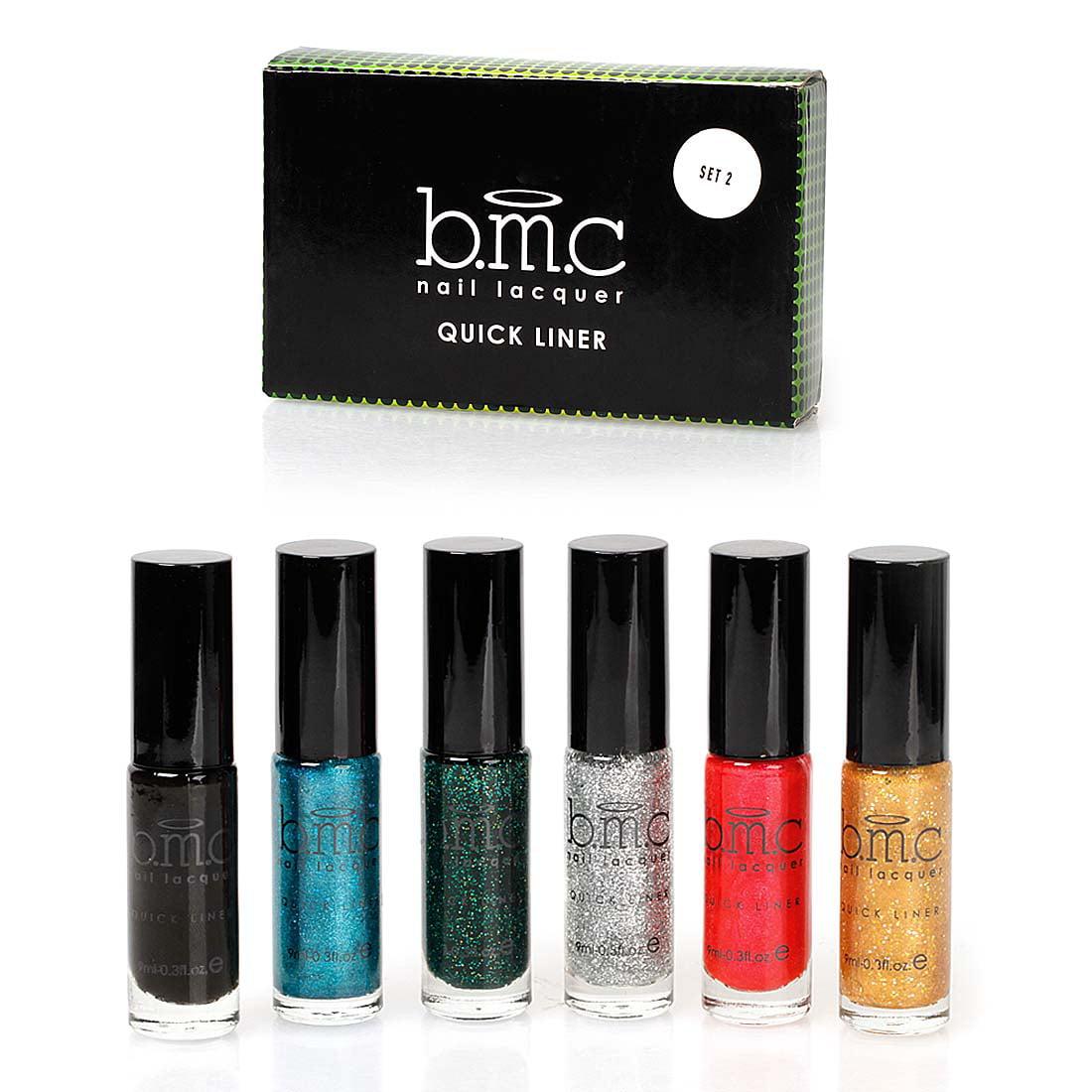 BMC 6pc Long Striper Dotting Brush DIY Nail Art Polishes - Quick...