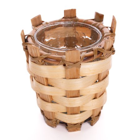 Tropical Sun Luau Bamboo Candle Holder 3.5