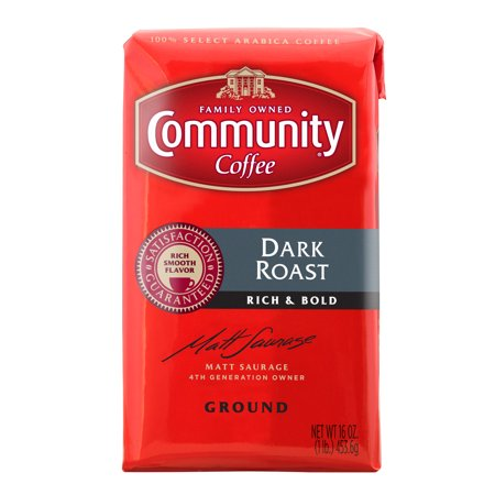 Community Coffee Premium Ground Dark Roast Coffee, 16 Ounce