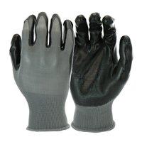 Hyper Tough Multipurpose Nitrile-Grip Gloves, Medium Duty, 3 Pair, Large, Black