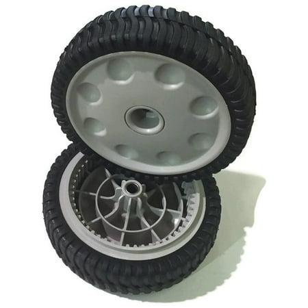 E200 Front Wheel (MTD Set of 2 Genuine Front Drive Wheels 734-04018C Self-Propelled Mower )