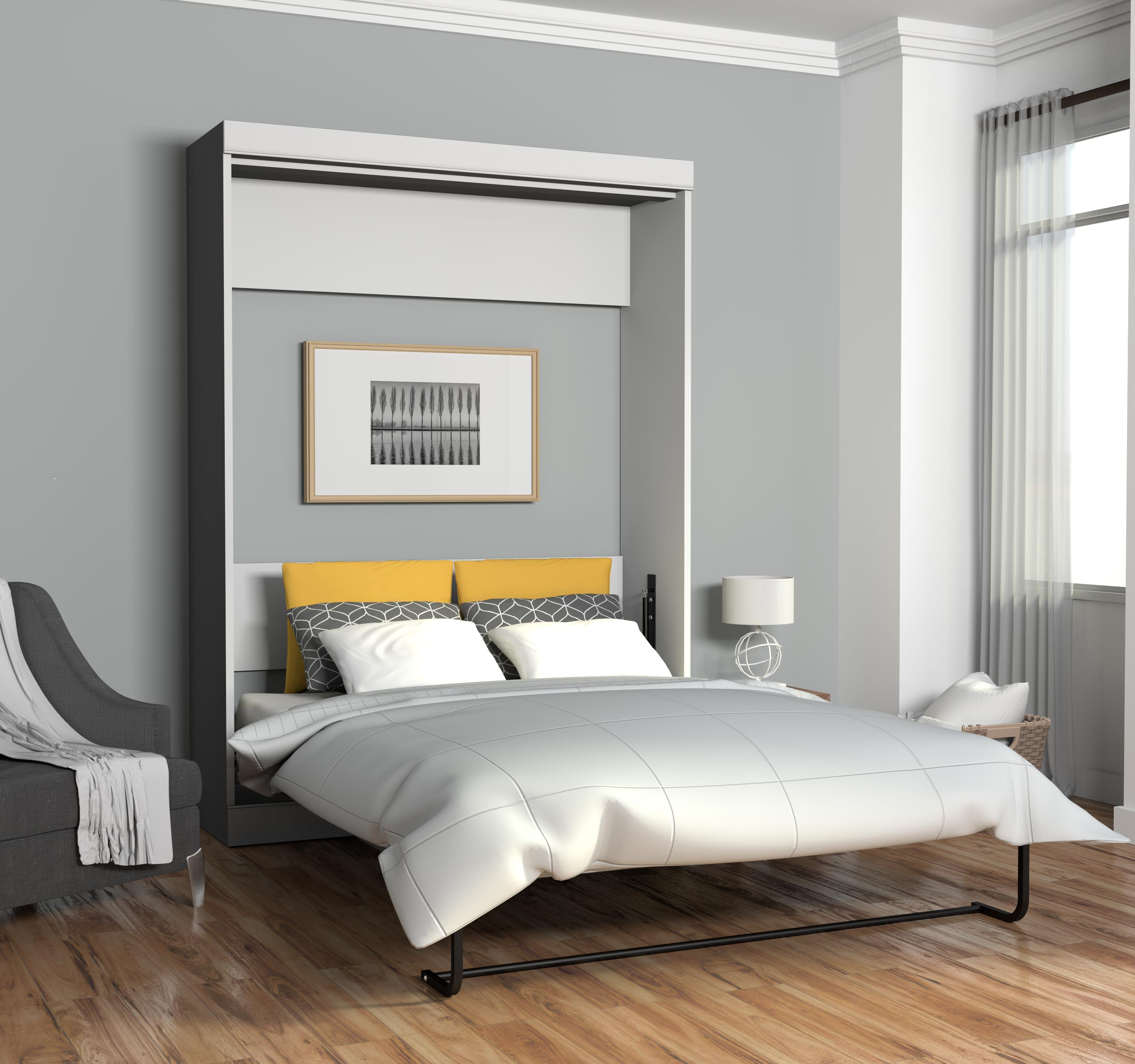 Edge by Bestar Queen Wall bed in White