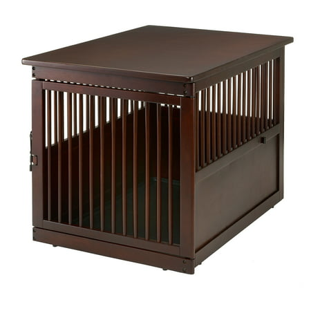(Richell Wooden End Table Dog Crate Large Dark Brown 41.5