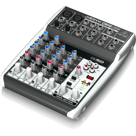 behringer q802usb 8 input 2 bus usb audio interface mixer w xenyx mic preamps british eq. Black Bedroom Furniture Sets. Home Design Ideas