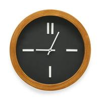 MoDRN Mid-Century Wooden Frame Wall Clock