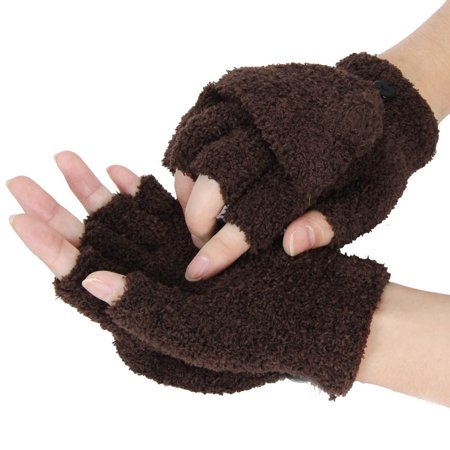 Girls Women Ladies Hand Wrist Warmer Winter Fingerless Gloves Mitten CO ()