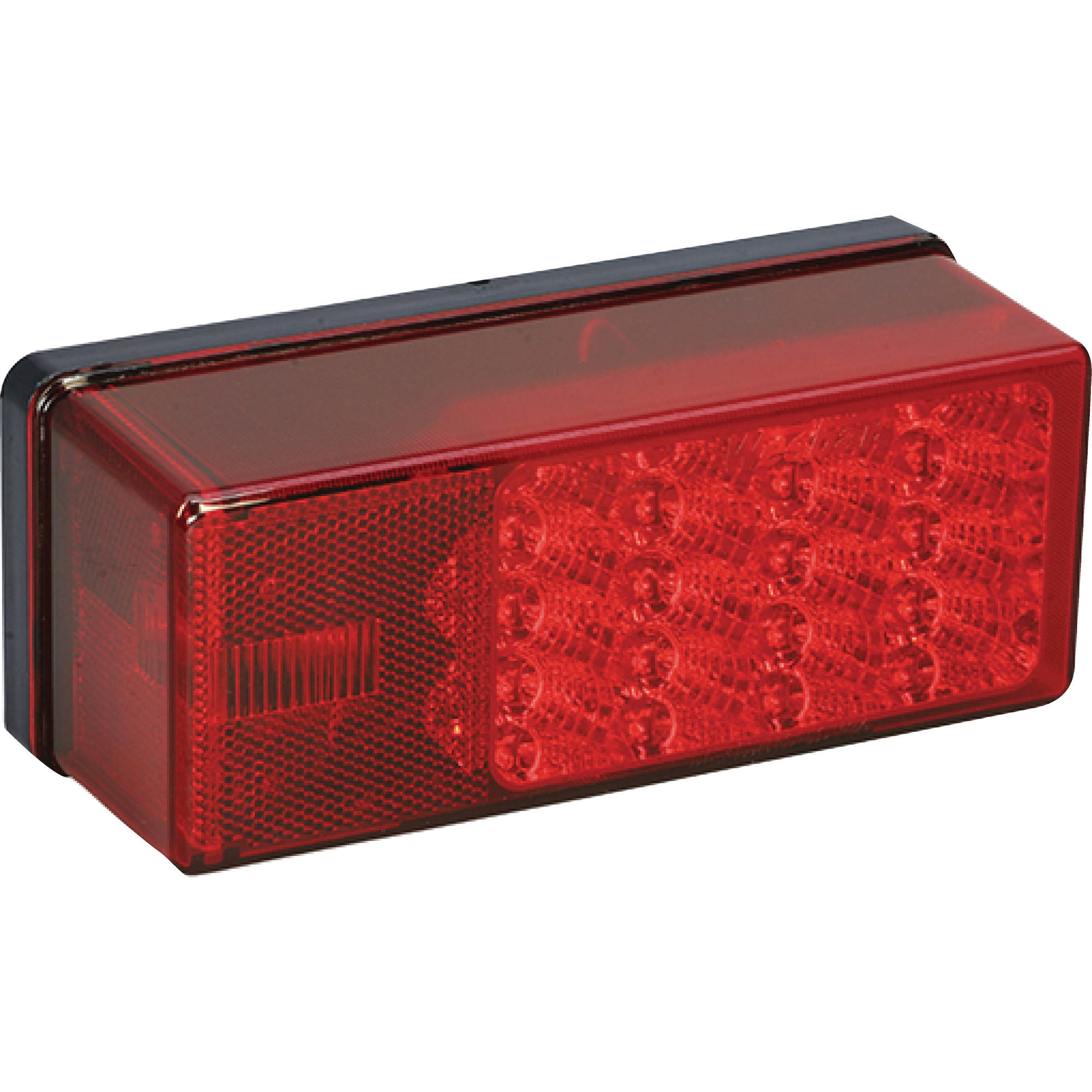 "Wesbar 407530 7-Function Right Curbside Waterproof LED Over 80"" Low Profile Trailer Tail Light"