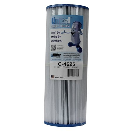 New Unicel C-4625 Rainbow Pentair In-Line Replacement Spa Filter Cartridge C4625