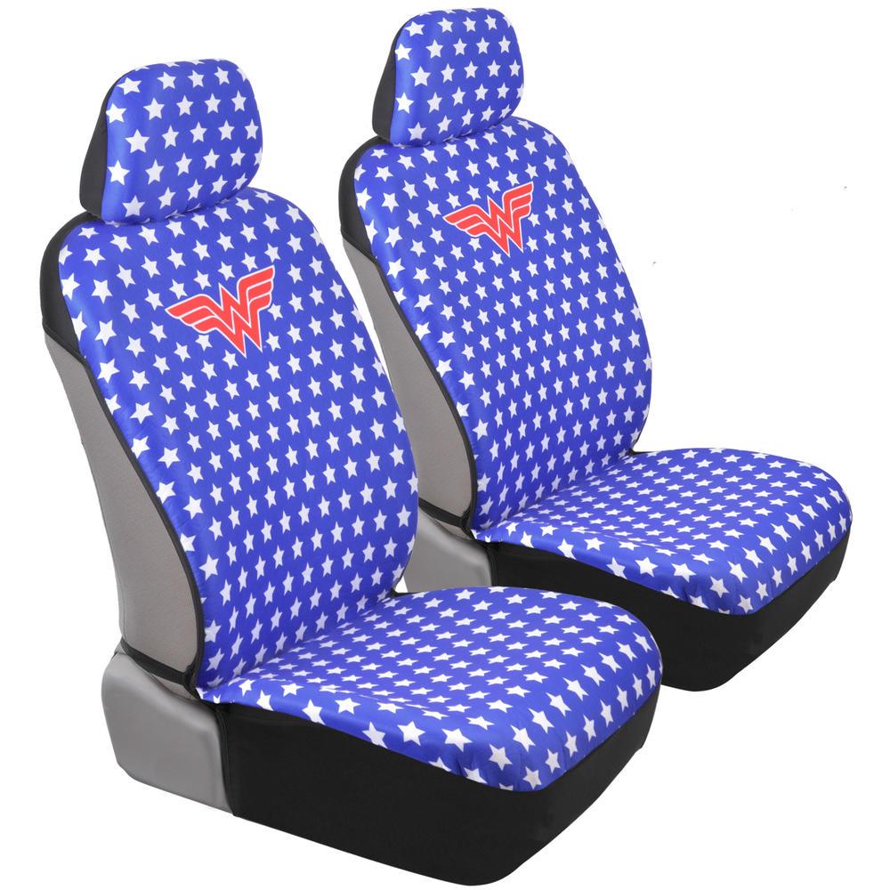 Wonder Woman Car Seat Covers Red White Blue W Stars Modern