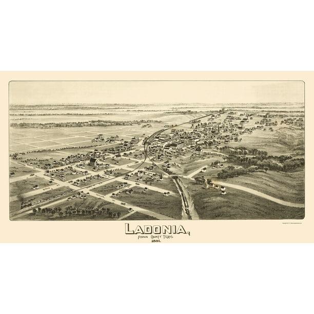 Ladonia Texas Fowler 1891 23 X 41 84 Walmart Com Walmart Com
