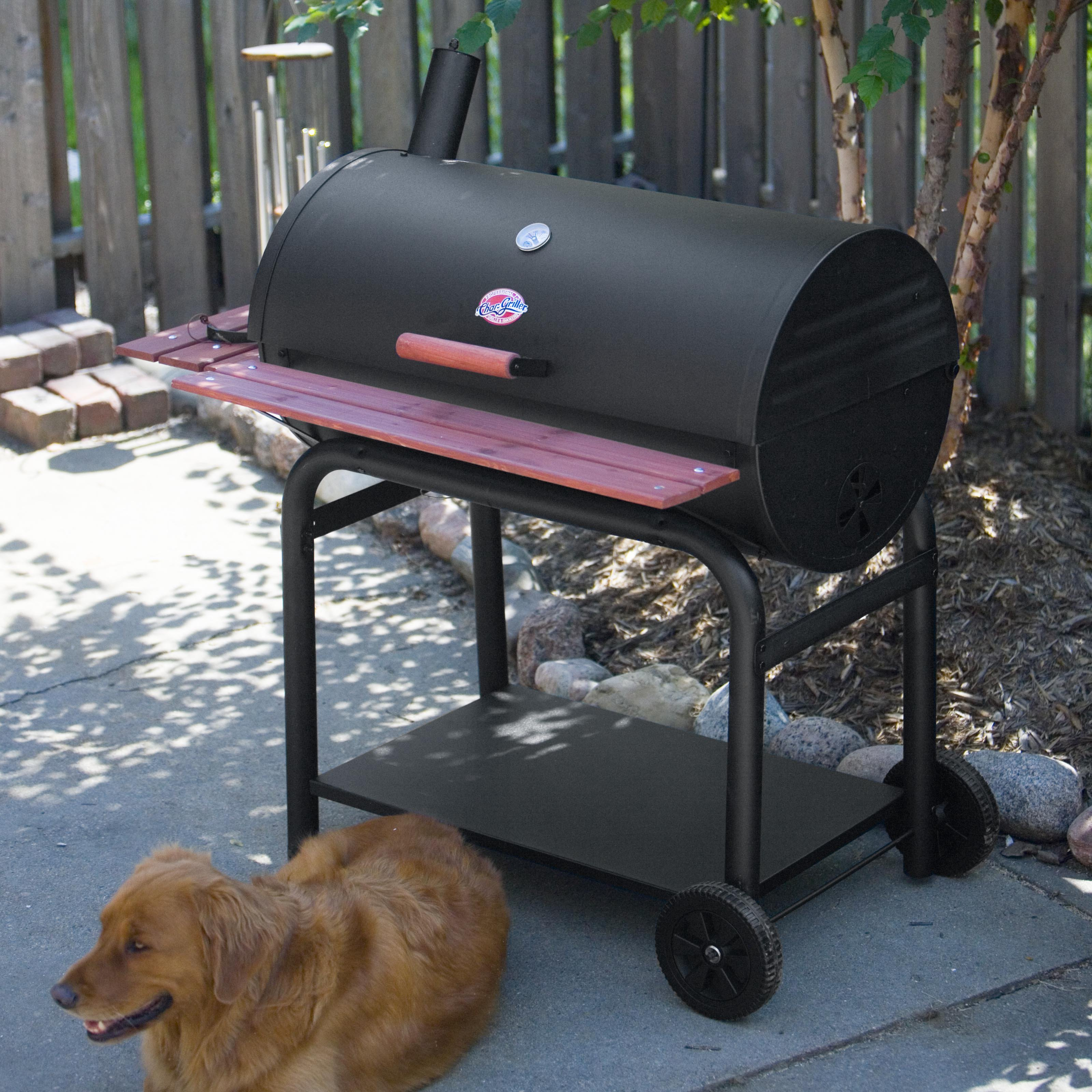 Click here to buy Char-Griller Outlaw Charcoal Grill by A and J Mfg (Char-Griller).