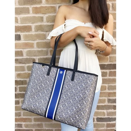 6edbea6f8b06 Tory Burch - Gemini Link Large Tote French Gray Gemini Link Bias Stripe  Kerrington - Walmart.com