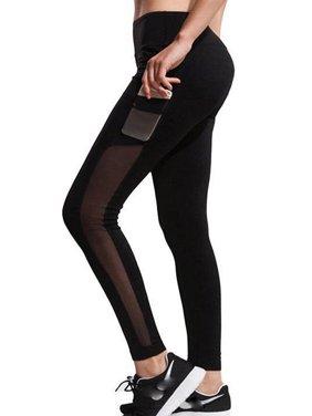 b6cf0b9ba9d Product Image SAYFUT Women s High Waist Yoga Pants Fashion Mesh Yoga  Pilates Pants Workout Exercise Skinny Leggings with