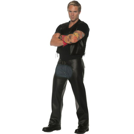 Highway Biker Men's Adult Halloween Costume, One Size, (42-46)