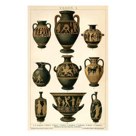 Greek Vases Print Wall Art Walmart