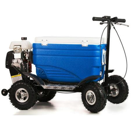 Crazy Coolers BLUE 4Stroke Motorized All Terrain 49CC Cooler w/ Wheelie (Back Bar Storage Cooler)