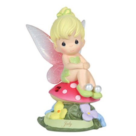 Ruby Bell - Precious Moments, Disney Showcase Collection, July Fairy As Tinker Bell, Resin Figurine, Ruby, 113214