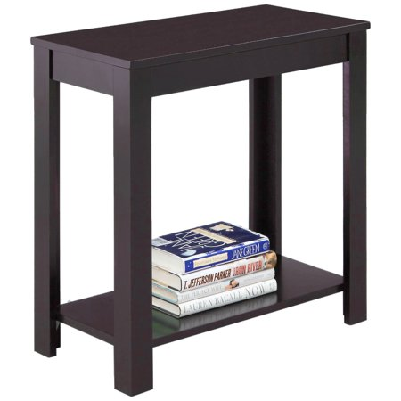 Zimtown Modern Sofa Side Table Coffee Wooden End Shelf Living Room Furniture Brown ()