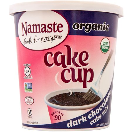 (2 pack) Namaste Organic Dark Chocolate Cake Cup Cake Mix, 2.43 oz