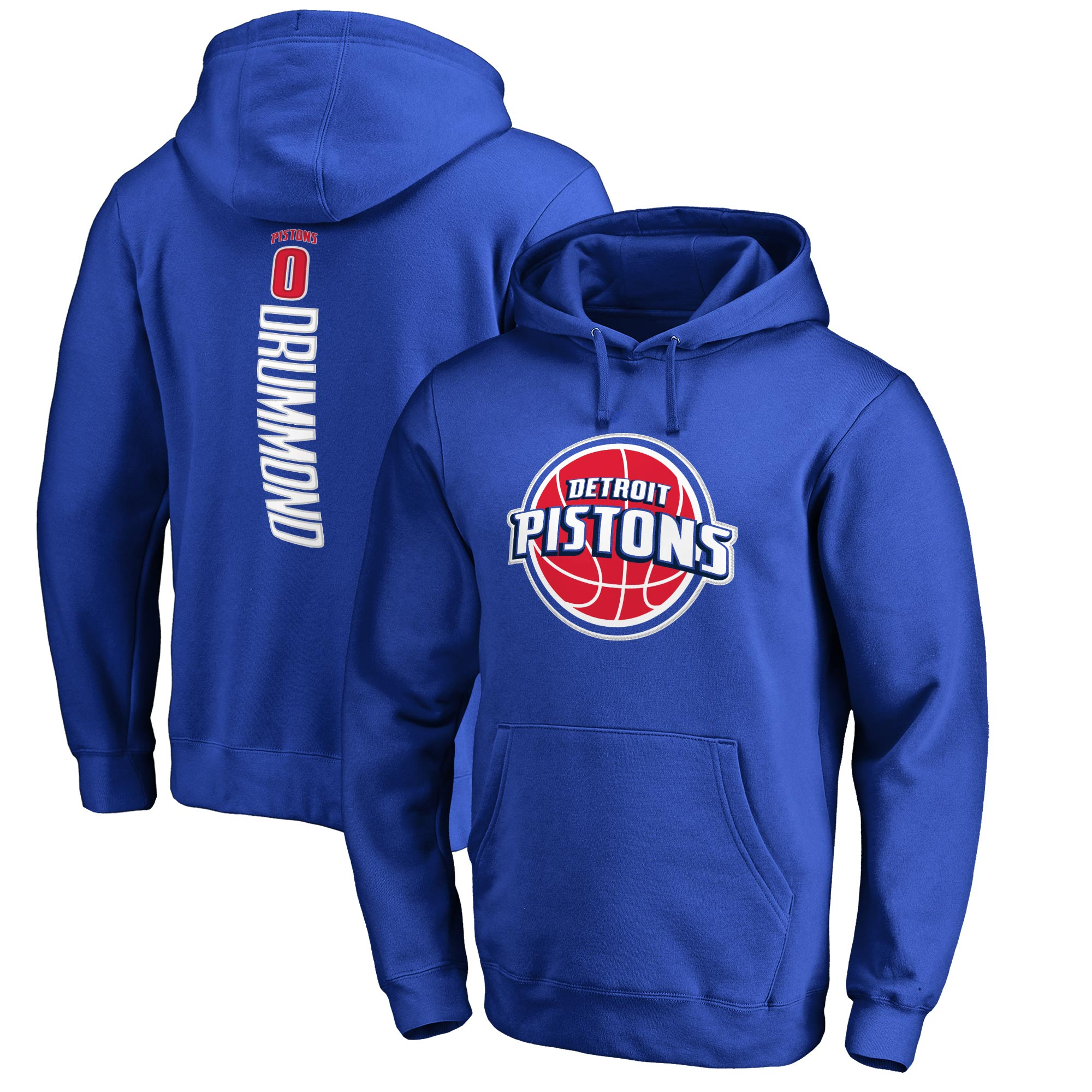 Andre Drummond Detroit Pistons Fanatics Branded Backer Pullover Hoodie - Blue