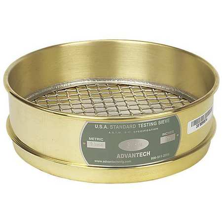 ADVANTECH 10BS8F Sieve, #10, B/S, 8 In, Full Ht