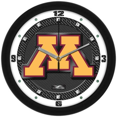 Minnesota Timberwolves Clock (Minnesota Carbon Fiber Textured Wall Clock)