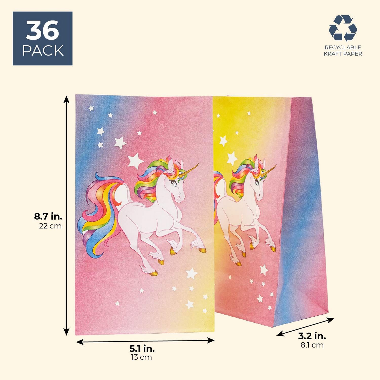 PARTY FAVOR BAGS Unicorn Bag Goodie Plastic for Kids Birthday ECOZEN LIFESTYLE