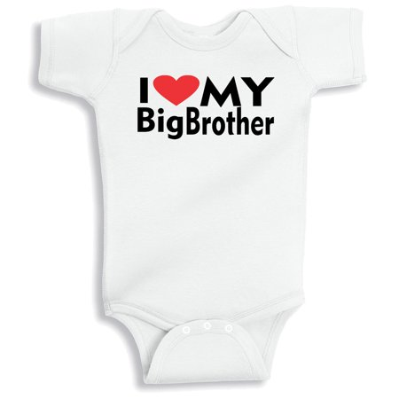Lil Shirts I Love My Big Brother (White, 12-18 Months) (I Love My Brothers)