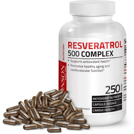 Miracle Reds Antioxidant (Resveratrol 500 Complex Red Wine Extract Natural Antioxidant Heart & Immune Health, 250 Capsules)