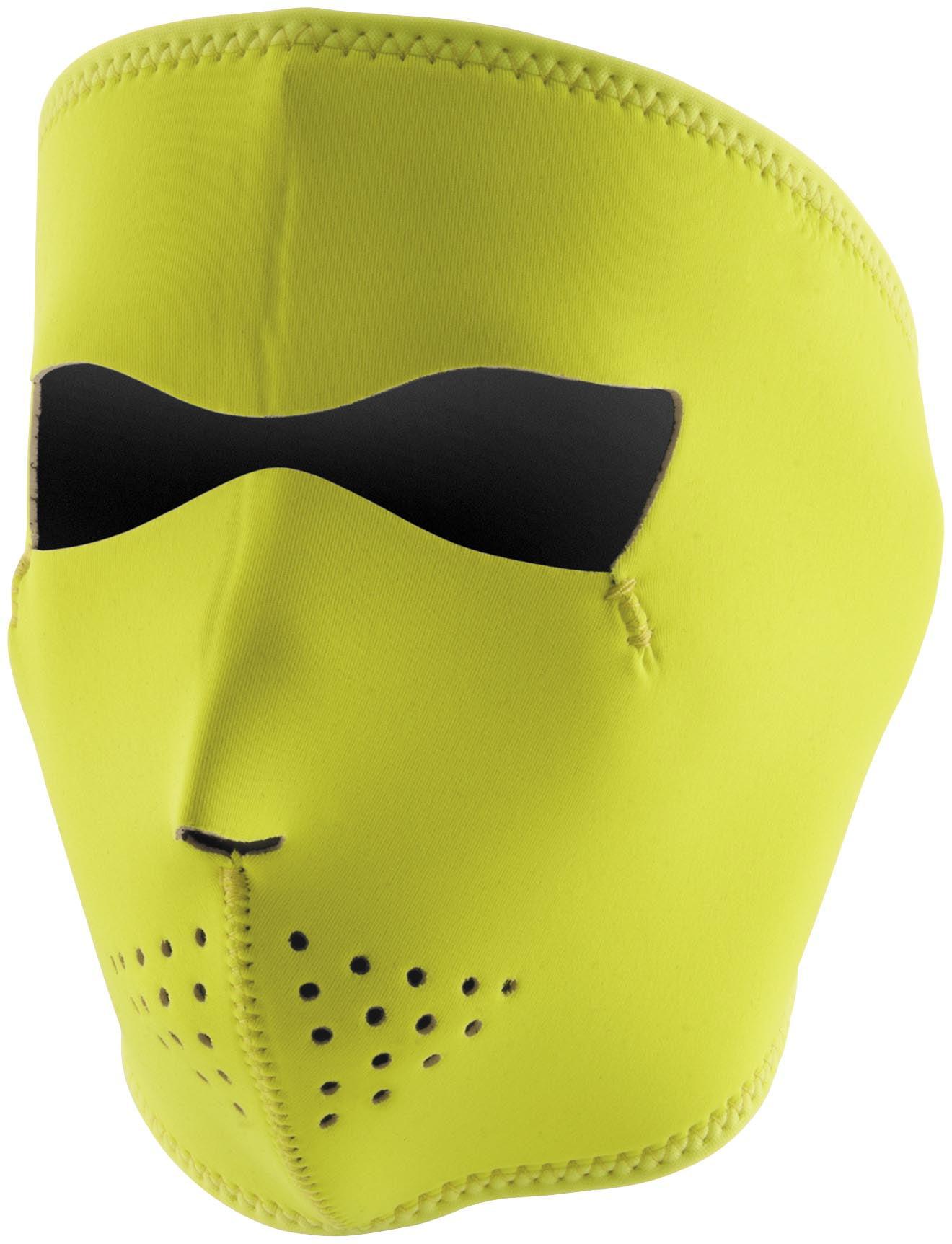Zan Headgear Full Face Mask Hi-Vis Lime (Yellow, OSFM) by Zan Headgear