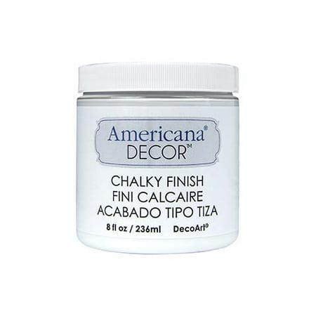Americana Chalky Finish Paint  Everlasting White  8 Oz