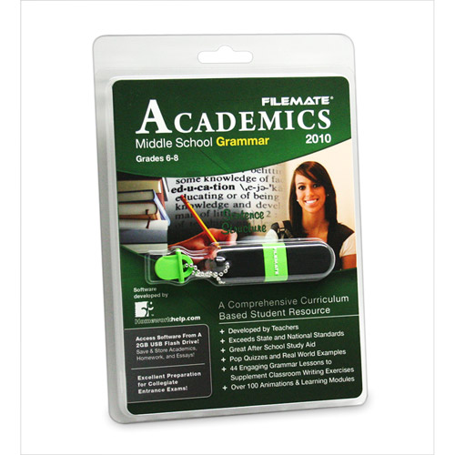 FileMate Academics Middle School Grammar 2010 2GB USB Drive Educational Software
