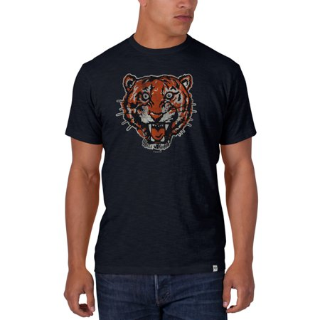 Detroit Tigers 47 Brand Fall Navy Vintage Logo Soft Cotton Scrum T-Shirt by