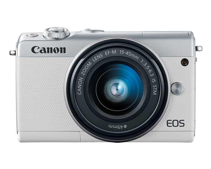 Canon eos m mirrorless digital camera with mm lens white