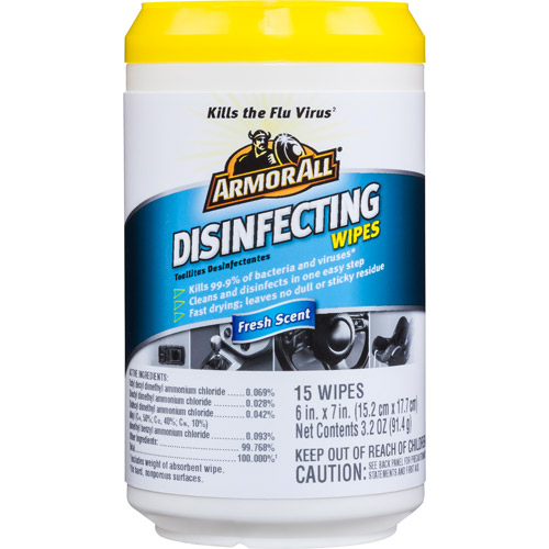 Armor All Disinfecting Wipes, 15ct