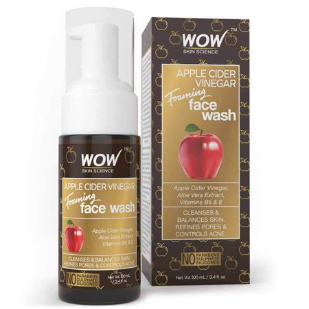 Floor Science Cleaner - WOW Apple Cider Vinegar Foaming Face Wash 100mL - Acne Pore Cleanser
