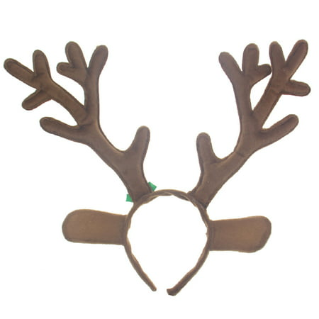 Short Plush Reindeer Antlers Headband Christmas and Easter Party Headbands - Brown](Reindeer Antler Headband Craft)