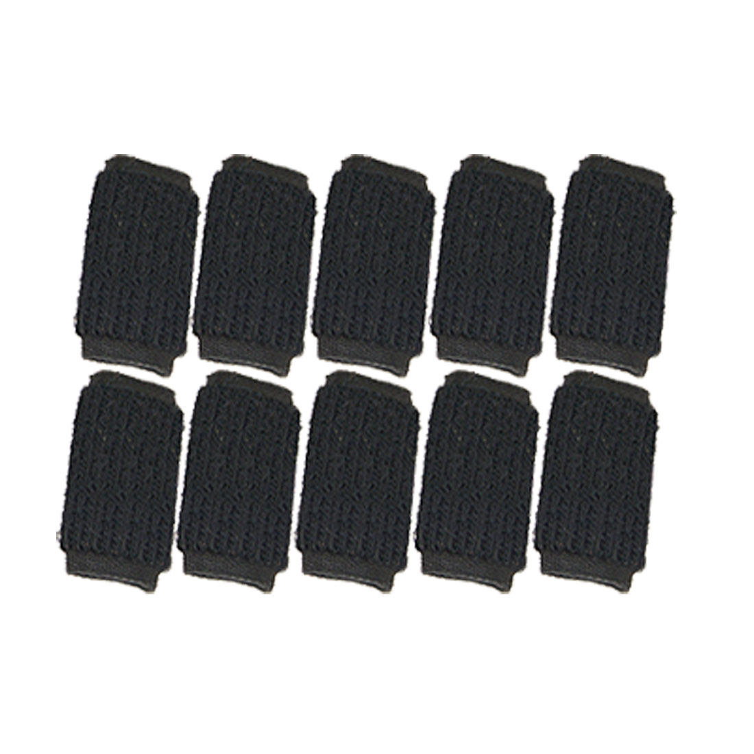 Unique Bargains 10Pcs Black Arthritis Compression Finger Sleeves Protector for Basketball Volleyball