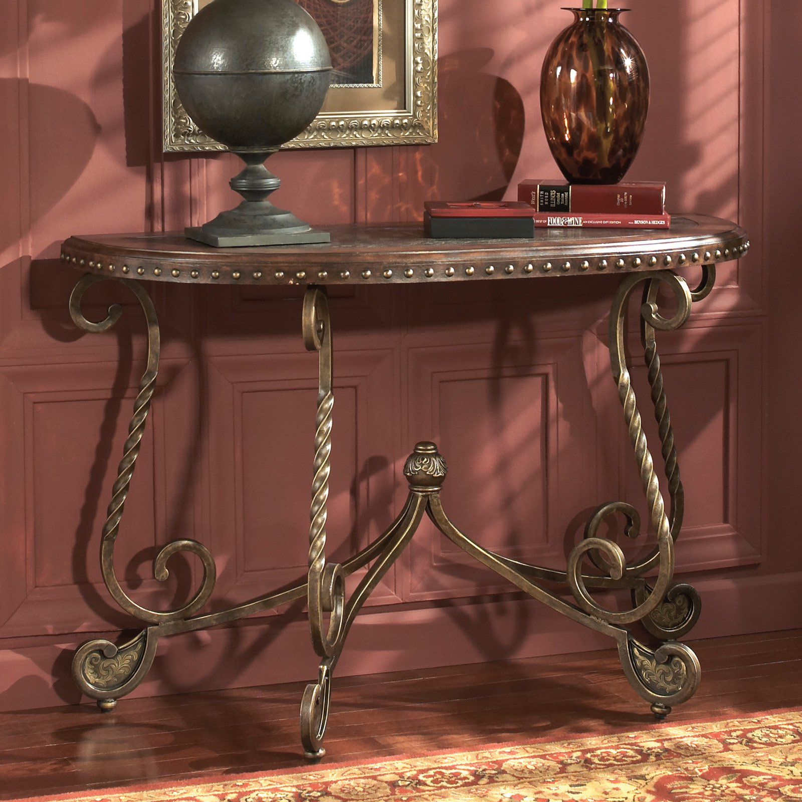 Signature Design By Ashley Rafferty Crescent Brown Sofa Table by Ashley Furniture