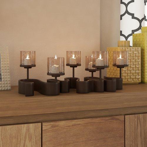 Brayden Studio Arete Glass Candelabra by