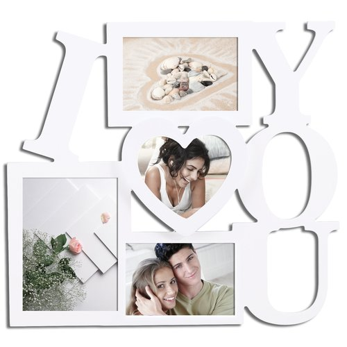 Adeco Trading 4 Opening ''I Love You'' Collage Picture Frame